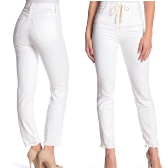 MOTHER Denim - Mother Superior Lace Up Dazzler Ankle Chew Jeans 2